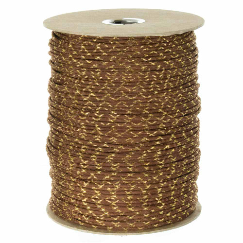 Chocolate Brown with Gold Metallic X  550 Paracord (7-Strand) - Spools