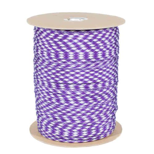 Acid Purple Silver Gray 50-50  550 Paracord (7-Strand) - Spools