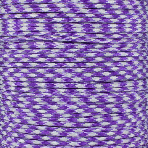 Acid Purple Silver Gray 50-50 - 550 Paracord - 100 Feet