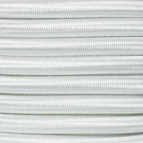 1/2 inch Shock Cord - White