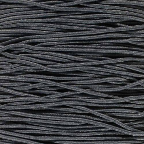 Charcoal Gray 1/16 inch Elastic Cord - Spools