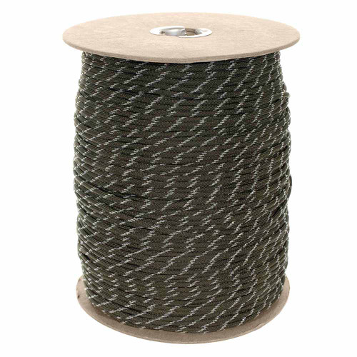 Glow in The Dark Olive Drab 550 Paracord (7-Strand) - Spools