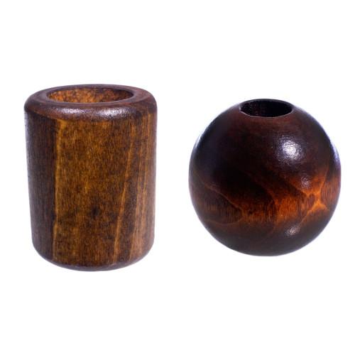 Dark Wooden Beads