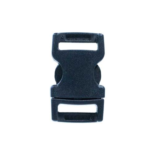 Flat Black Plastic Side-Release Buckle - 1/2in