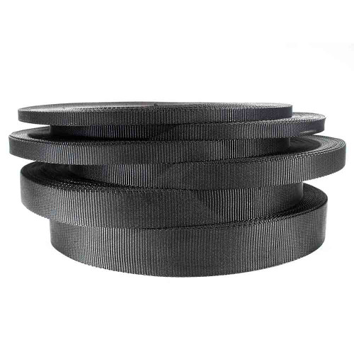 Black Nylon Webbing - Multiple Sizes