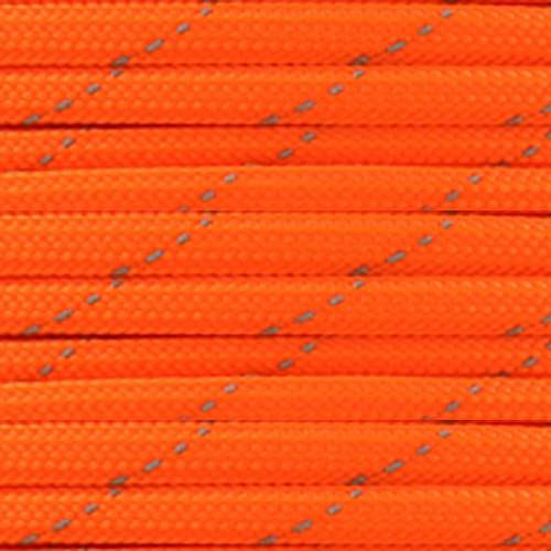 Neon Orange 550 Paracord with Reflective Tracers