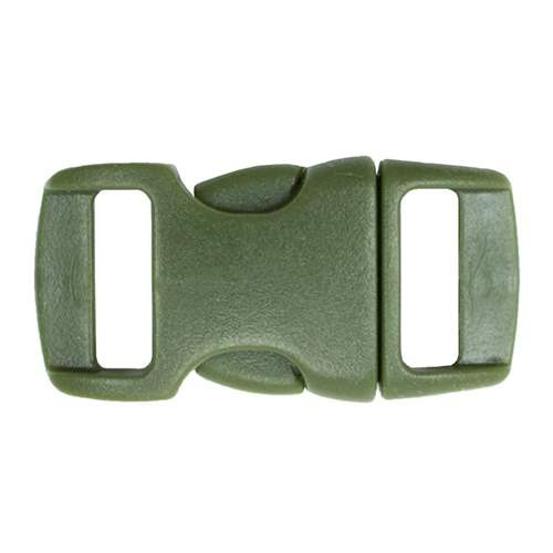 "Contoured Side-Release Buckle - 3/8"" - Army Green"