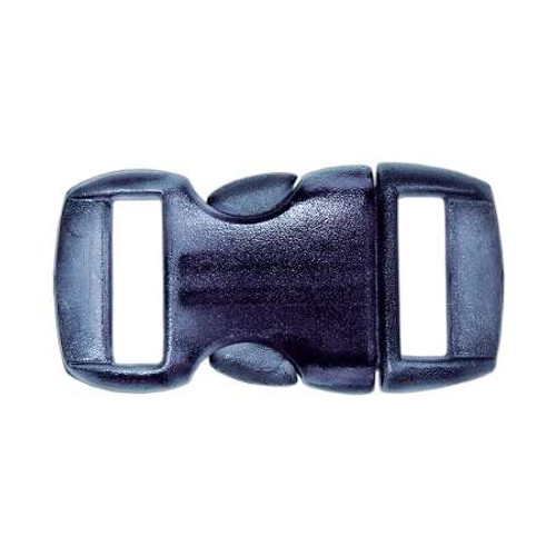 """Contoured Side-Release Buckle - 3/8"""" - Clear Black"""