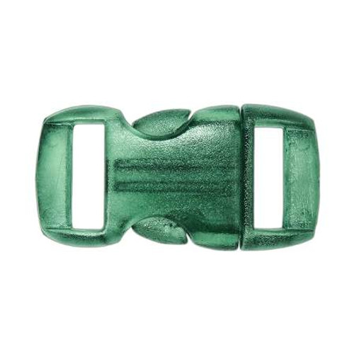 "Contoured Side-Release Buckle - 3/8"" - Clear Green"