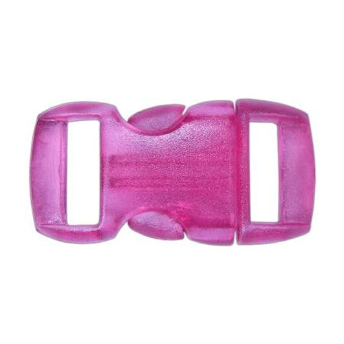 "Contoured Side-Release Buckle - 3/8"" - Clear Pink"