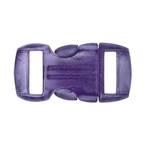 "Contoured Side-Release Buckle - 3/8"" - Clear Purple"
