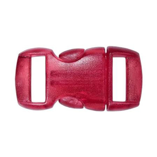 """Contoured Side-Release Buckle - 3/8"""" - Clear Red"""
