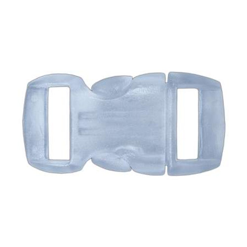 """Contoured Side-Release Buckle - 3/8"""" - Clear White"""