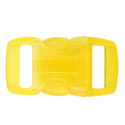 """Contoured Side-Release Buckle - 3/8"""" - Clear Yellow"""