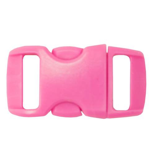 """Contoured Side-Release Buckle - 3/8"""" - Hot Pink"""