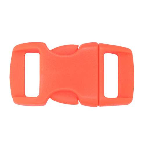 "Contoured Side-Release Buckle - 3/8"" - Neon Orange"