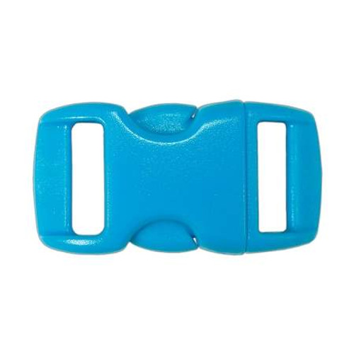 """Contoured Side-Release Buckle - 3/8"""" - Neon Turquoise"""