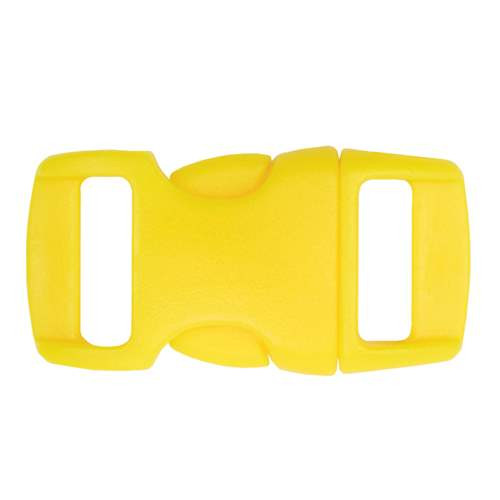 """Contoured Side-Release Buckle - 3/8"""" - Neon Yellow"""