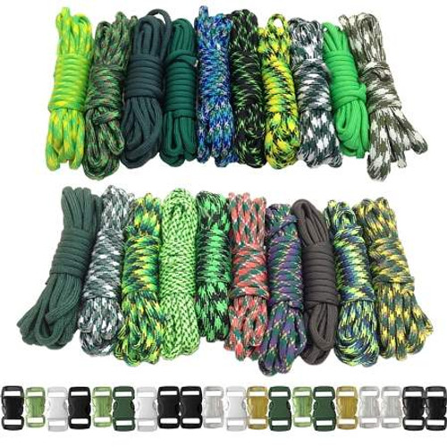 Paracord & Buckles Combo Kit - Green Giant