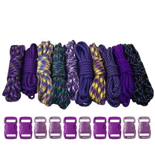 Paracord & Buckles Combo Kit - Purple