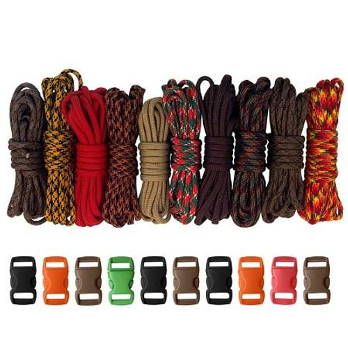 Paracord & Buckles Combo Kit - Autumn