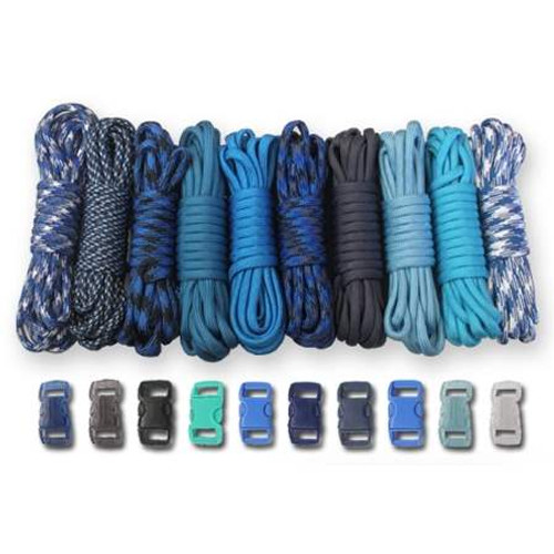 Paracord & Buckles Combo Kit - Blues