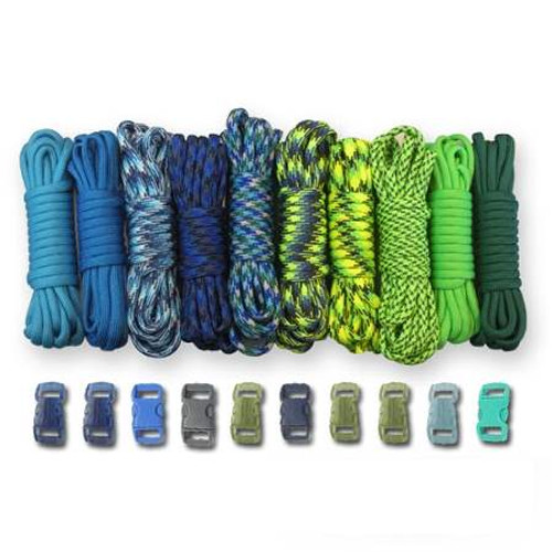 Paracord & Buckles Combo Kit - Coastal