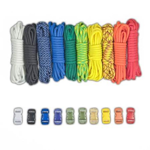 Paracord & Buckles Combo Kit - Rainbow
