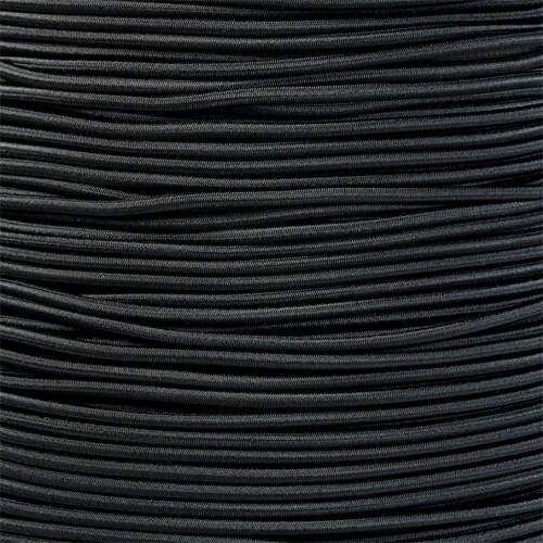 "Black Bungee Shock Stretch Cord 1/8"" Diameter"