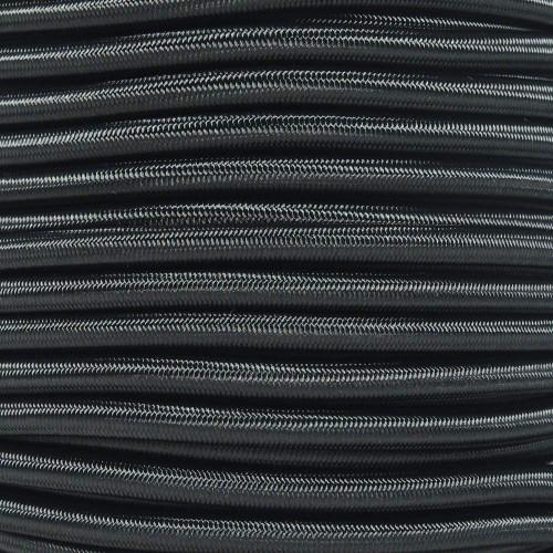 "Black Bungee Shock Stretch Cord 1/4"" Diameter"