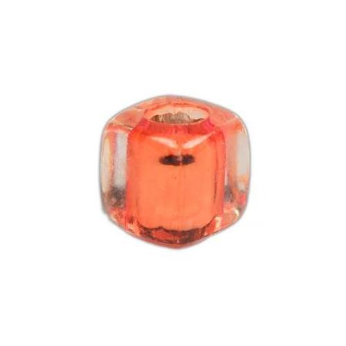 Acrylic Square Clear Beads - Orange