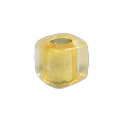 Acrylic Square Clear Beads - Yellow