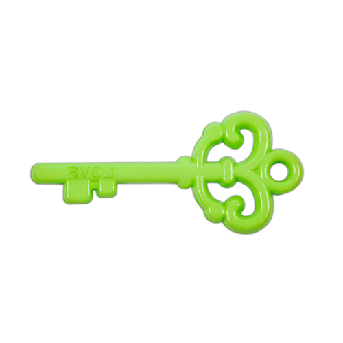 "Acrylic ""Love"" Key Pendant - Green"