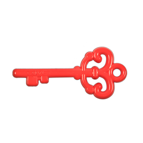 "Acrylic ""Love"" Key Pendant - Red"