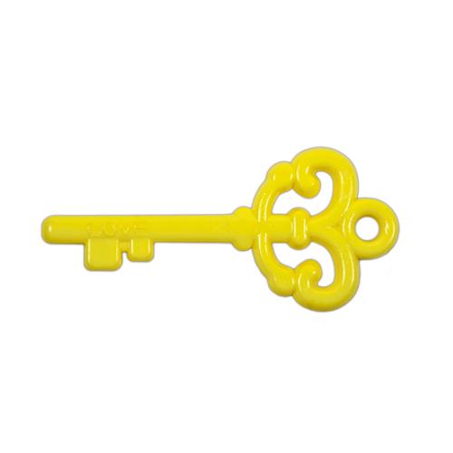 "Acrylic ""Love"" Key Pendant - Yellow"