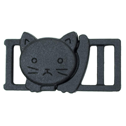 "3/8"" Plastic Breakaway Cat Buckle - Black"