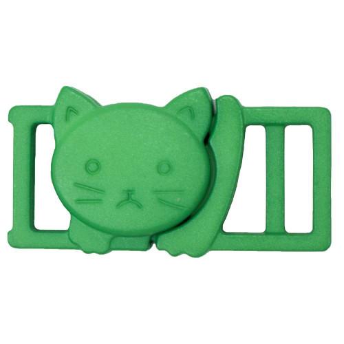 """3/8"""" Plastic Breakaway Cat Buckle - Green"""