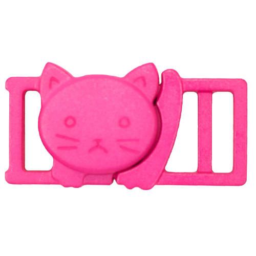 """3/8"""" Plastic Breakaway Cat Buckle - Pink"""