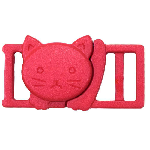"3/8"" Plastic Breakaway Cat Buckle - Red"