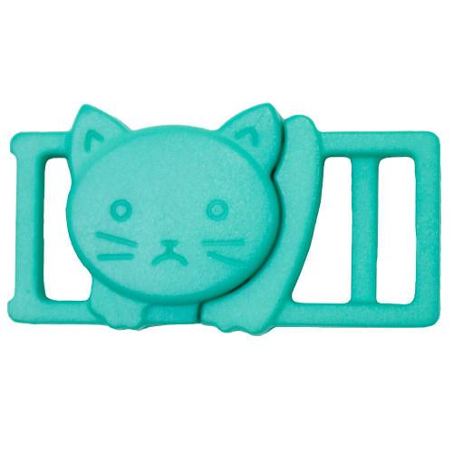 """3/8"""" Plastic Breakaway Cat Buckle - Turquoise"""