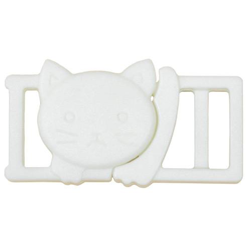 "3/8"" Plastic Breakaway Cat Buckle - White"
