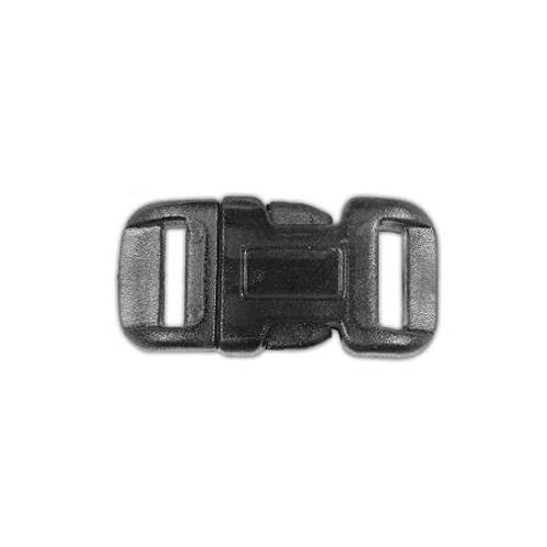 "Clear Curved Side Release Buckle 1/2"" - Black"