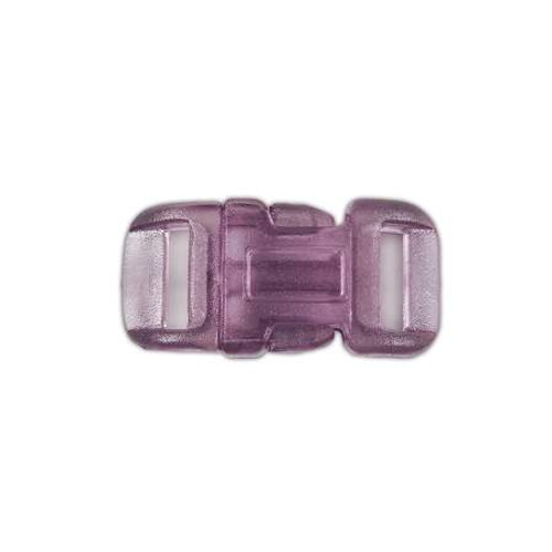 "Clear Curved Side Release Buckle 1/2"" - Purple"