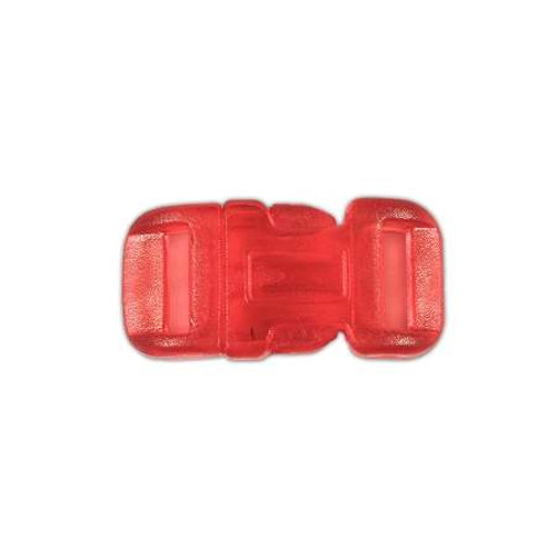 """Clear Curved Side Release Buckle 1/2"""" - Red"""