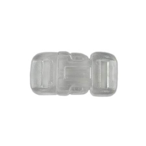 "Clear Curved Side Release Buckle 1/2"" - White"