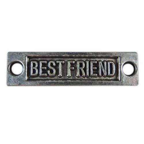 """""""Best Friend"""" Accent Charm - Antique Silver"""