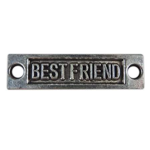 """Best Friend"" Accent Charm - Antique Silver"