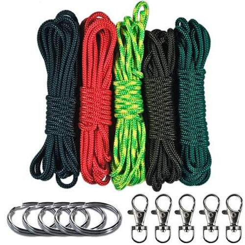 Paracord Crafting Lanyard & Pocket Keychain Combo Kit - Garden