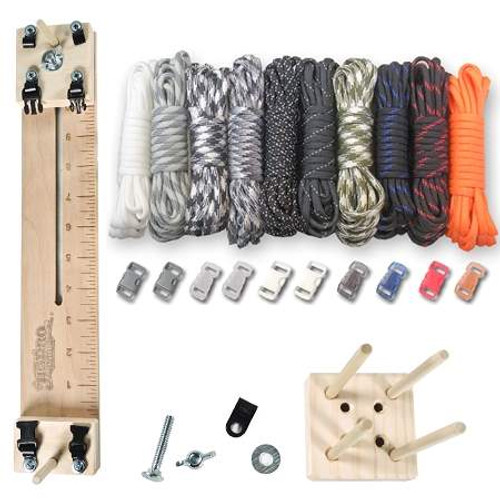 """Paracord Crafting Kit w/ 10"""" Pocket Pro Jig & Monkey Form - Tactical"""