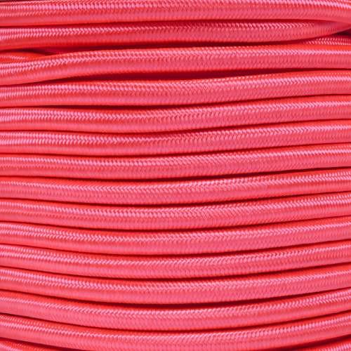 "Neon Pink Bungee Shock Stretch Cord 1/4"" Diameter"